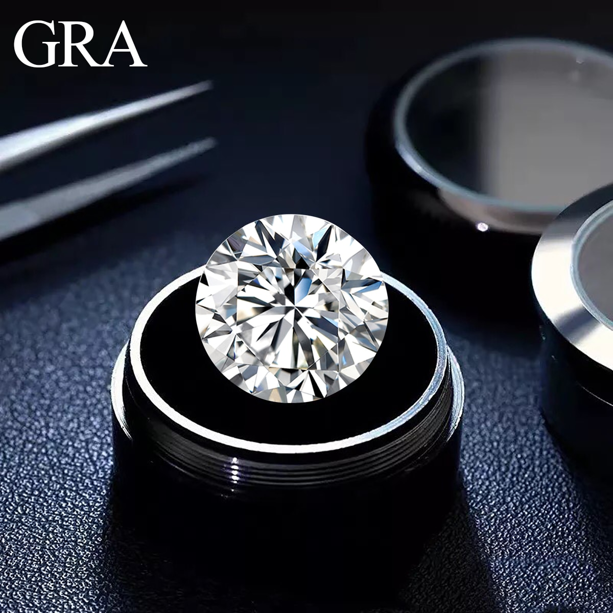 Loose Moissanite Stones 3mm to 12mm IJ color Round Brilliant Cut Loose beads Fine Jewelry For Ring Earrings Material Diamond New