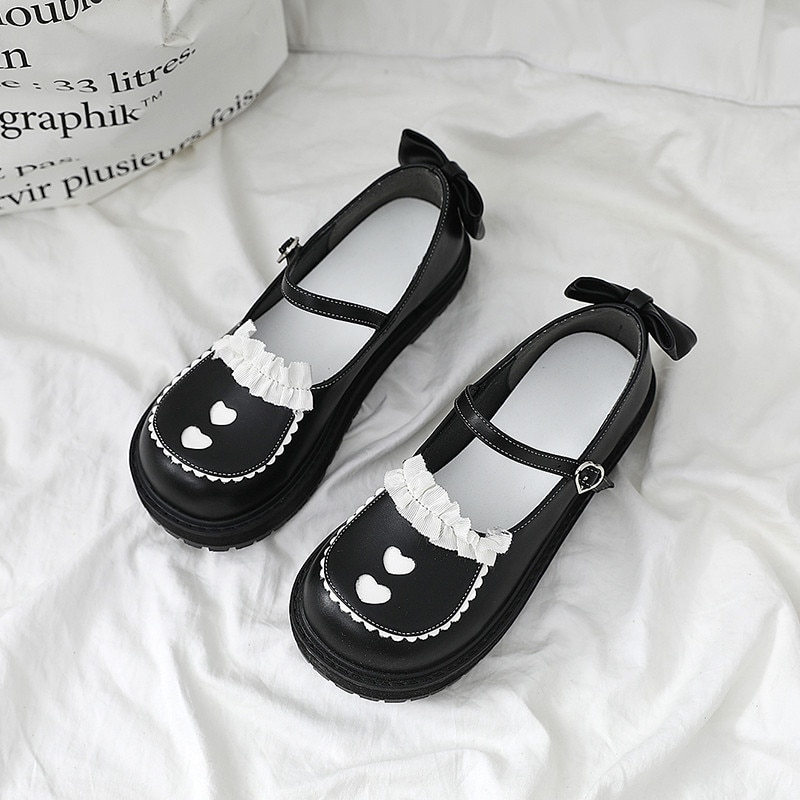Victoria Academia Japonesa lindo suela gruesa zapatos de niñas Cosplay Lolita Kawaii niñas princesa zapatos dulce cabeza redonda zapatos de niñas