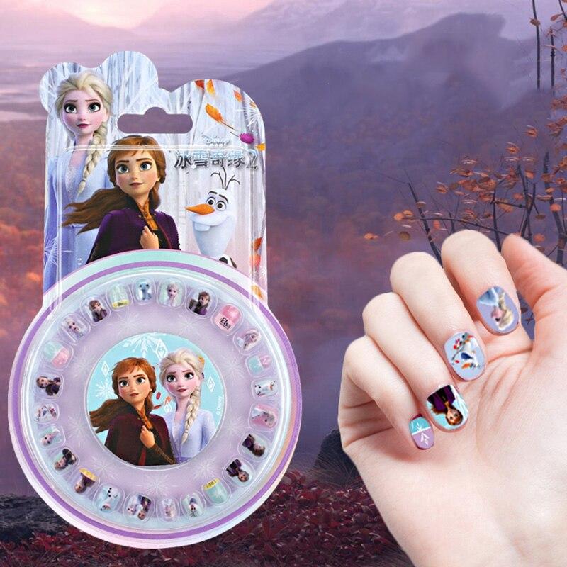 AliExpress - Cartoon Disney Frozen 2 Elsa Anna Girls Nail Stickers Makeup Set Pretend Play Toys Kids Gift Children Nail Decoration Supplies