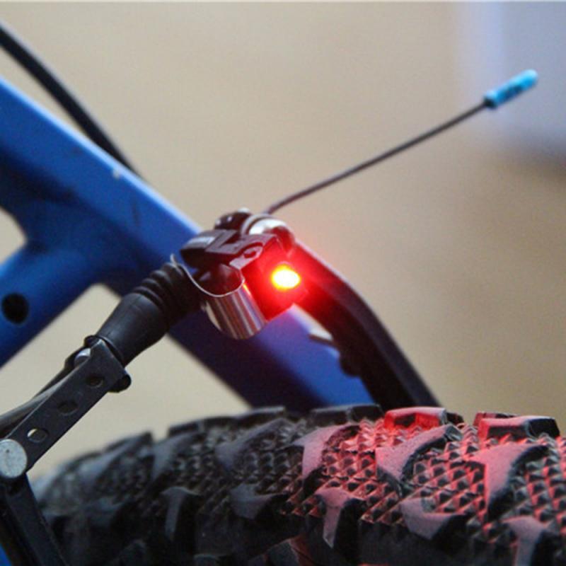 1 шт. Водонепроницаемый велосипедные тормозные колодки велосипед светильник