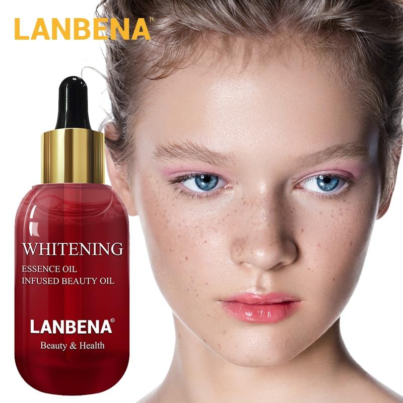 LANBENA Vitamin C Face Serum Oil Whitening Blemish Moisturizing Shrink Pores Anti-Aging 100% Plant Lift Firming Skin Care 15ml