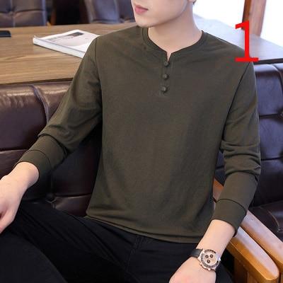 2019 autumn trend trend slim cotton bottoming shirt Korean version of the new autumn shirt