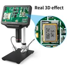 Andonstar 7 polegada lcd microscópio digital de solda eletrônico 500x 1000x microscópio de vídeo câmera amplificação contínua