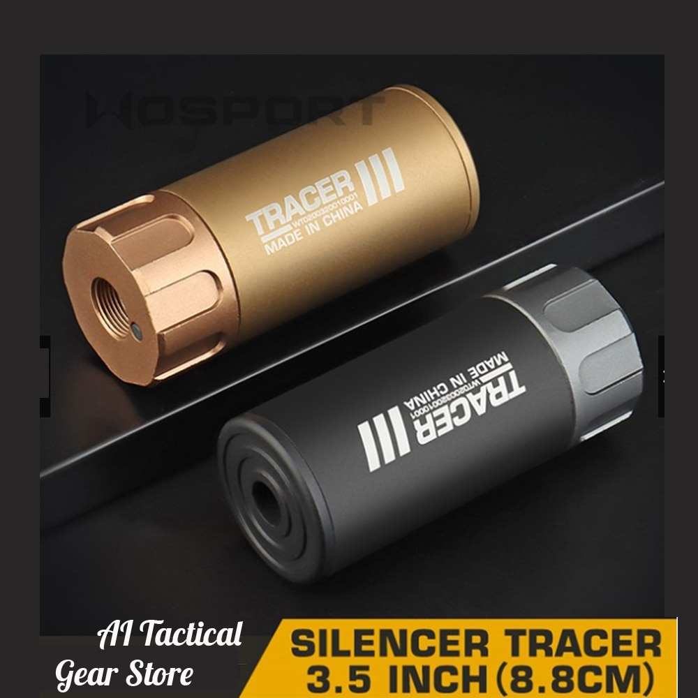 Tactical Airsoft Tracer Lighter Flash Silencer 11-14mm Paintball Lighter Tracer USB Charging For Airsoft Rifle Shooting War Game