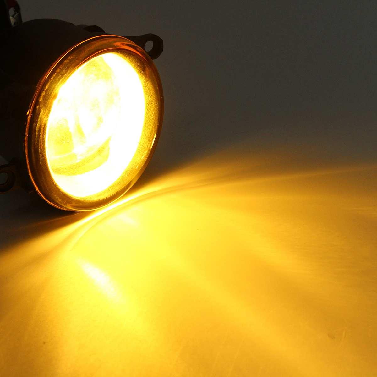 Новый 2 шт. 55 Вт светодиодный круглый передний правый/левый противотуманный светильник лампа DRL Дневной ходовой светильник s для Toyota/Camry/Carola/...