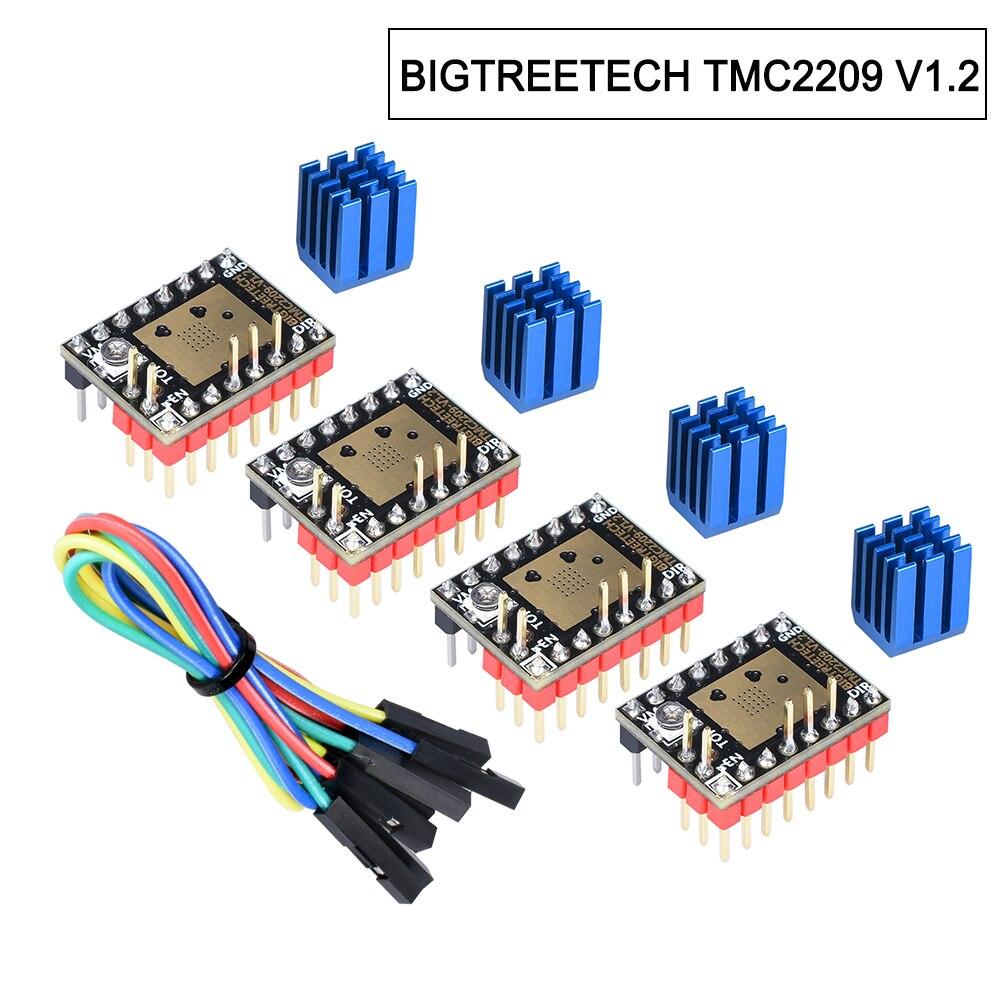 أجزاء طابعة ثلاثية الأبعاد TMC2209 V1.2 السائر سائق tmc2208 UART TMC2130 For BTT SKR V1.4 SKR Mini E3 SKR 2 Ender3 V2 قطع غيار طابعة ثلاثية الأبعاد