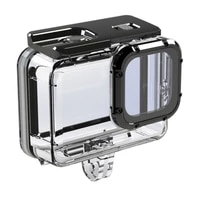 r91a 50m waterproof case sports camera accessory underwater housing diving protective shell mount adapter compatible with hero 9