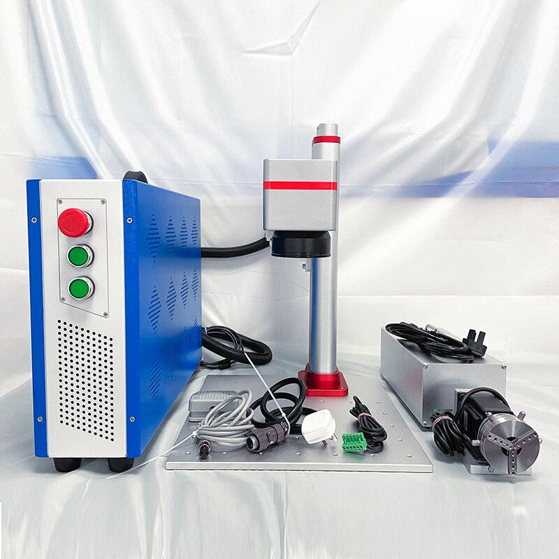 Color marking JPT 30w fiber laser marking machine mopa