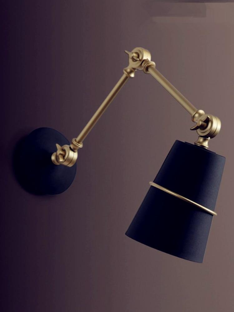 Nordic Iron Swing Long Arm Wall Light Living Room Beside Lamp Modern LED Wall Lights Sconce Arandela Apliques Pared