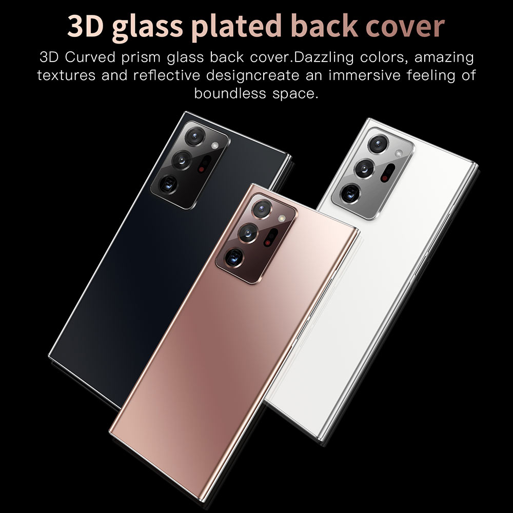 Фото4 - Смартфон глобальная версия Note20U +, 16 ГБ, 512 ГБ, 7,5 дюйма, 5000 мАч, Android 10,0, сотовый телефон Snapdragon 865, телефоны 4G5G, Note20