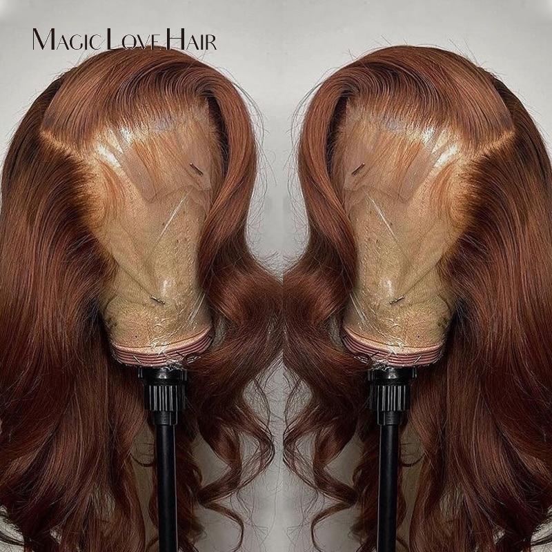 Волшебная любовь блонд цвет кружева передние al парики 13*4 кружевные передние человеческие волосы парики предварительно выщипанные бразиль...