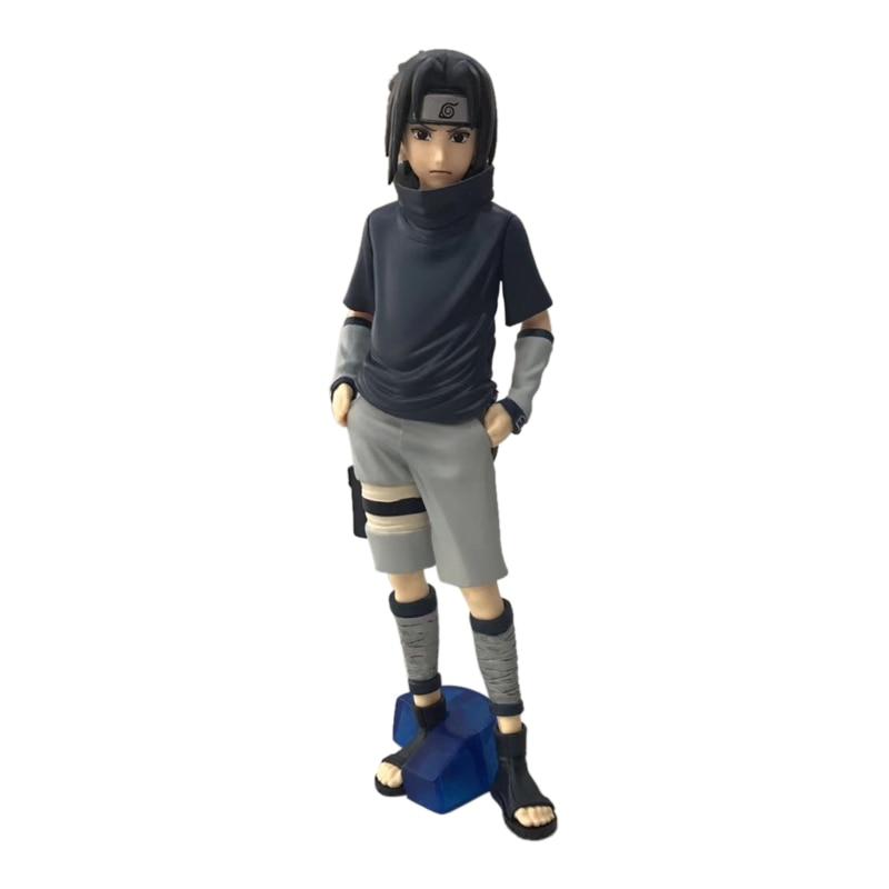 Figuras de acción de Naruto Uchiha Sasuke, modelo coleccionable en PVC, regalo de Navidad para niños, 35 cm