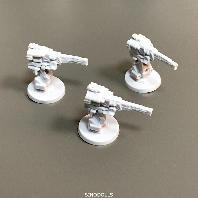 Nuevo, 3 uds., pistola centelleante de Falchion, miniaturas para juego de rol, tablero, figuras para juego