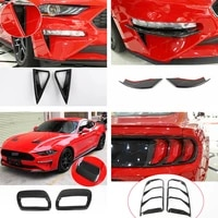8carbon fiber abs car exterior cover decoration cover for ford mustang 2018 19