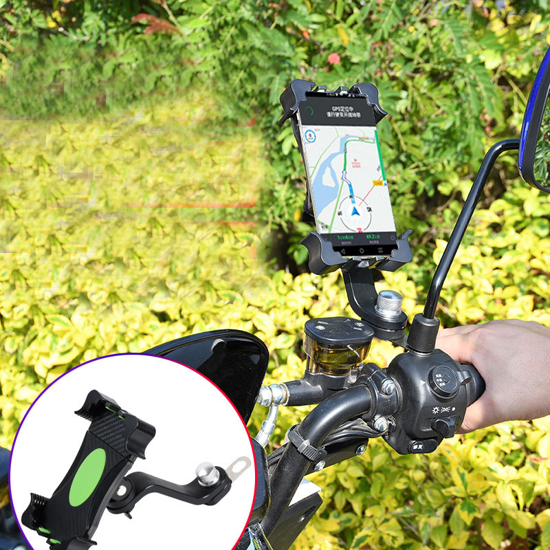 MENFLY Takeaway Electric Bicycle Bracket Motorcycle Mobile Phone Holder Universal iPhone Holder Stand Mount Cycling Navigation