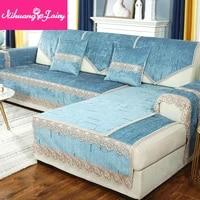 nordic minimalist sofa cushion four seasons universal non slip leather sofa cover chenille high end cushion backrest towel