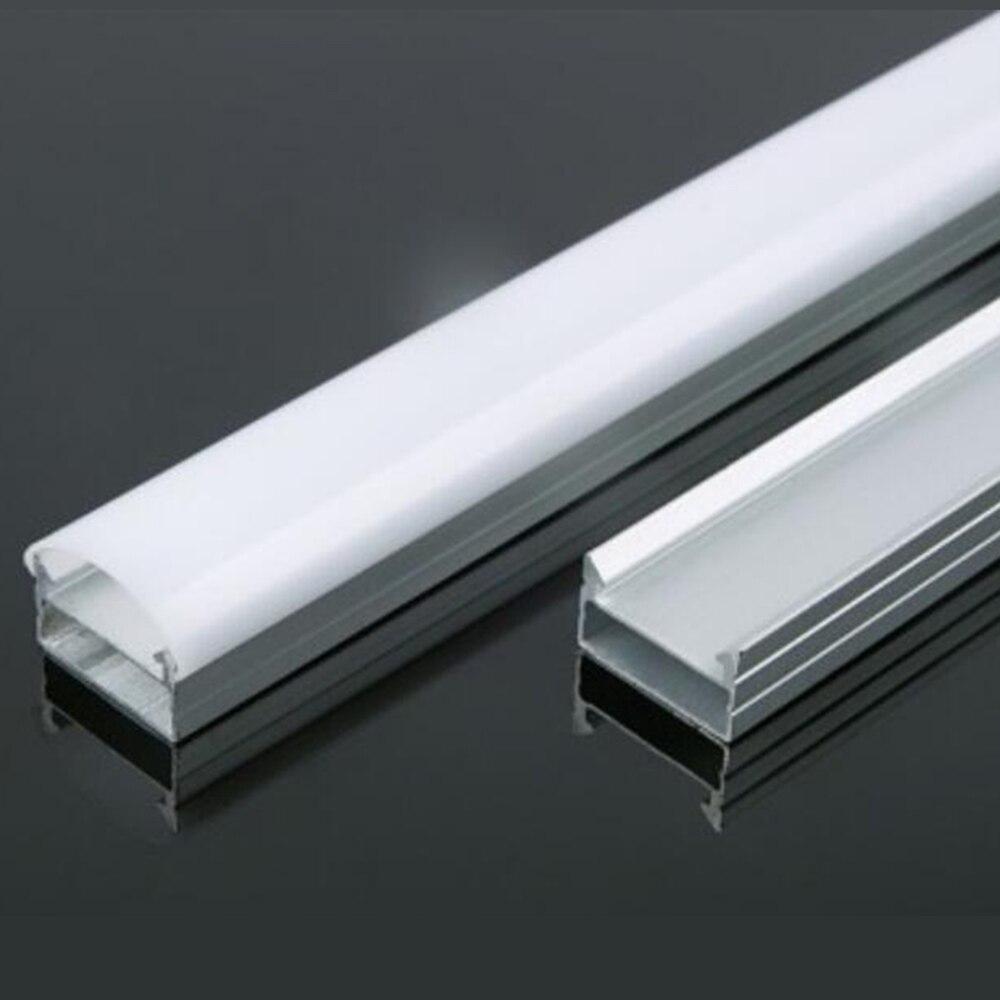 Barra de luces LED en forma de U perfil con canal de aluminio con cubierta, tapas finales y Clips de montaje para tira de luces LED