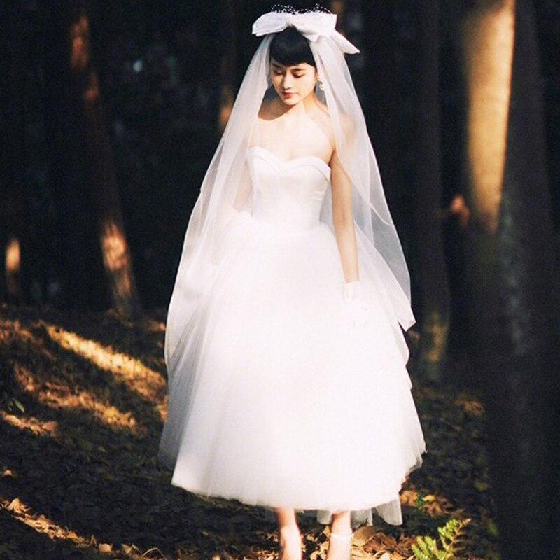 Vestidos de novia de estilo Vintage de los 50, vestidos de satén...
