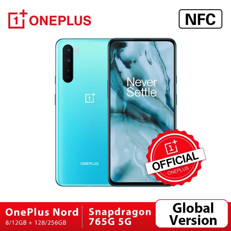 Originele Global Versie Oneplus Nord 5G Snapdragon 765G Smartphone 8Gb 128Gb 6.44 90Hz Amoled 48MP Quad Cams Warp Lading 30T