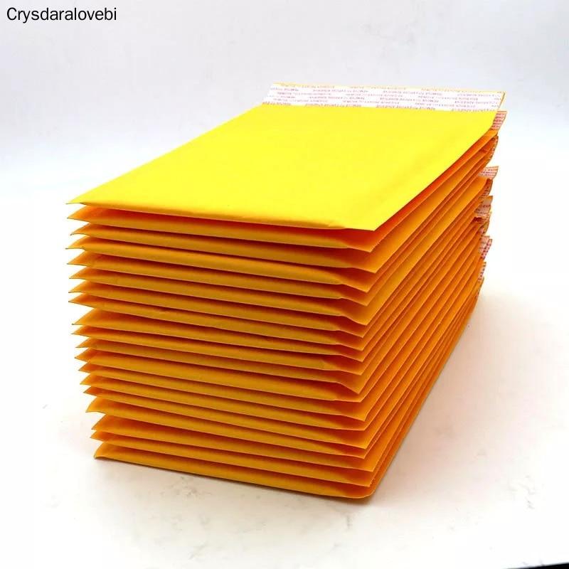 Sobre de papel de burbujas Kraft de 15*20cm al por mayor, 4 tamaños, bolsa para envíos por correo, sobres dorados, bolsa de correo pequeña