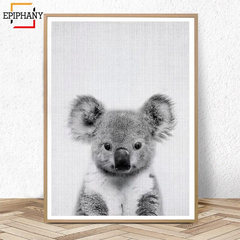 Koala Print Australian Animal Nursery Decor Nordic Wall Art Painting Picture Baby Animals Posters and Print Kids Room Decoration