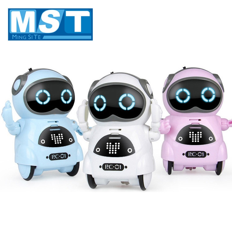 Inteligente mini bolso robô interativa diálogo reconhecimento de voz registro repetição caminhada cantar dança contar história brinquedos com luz
