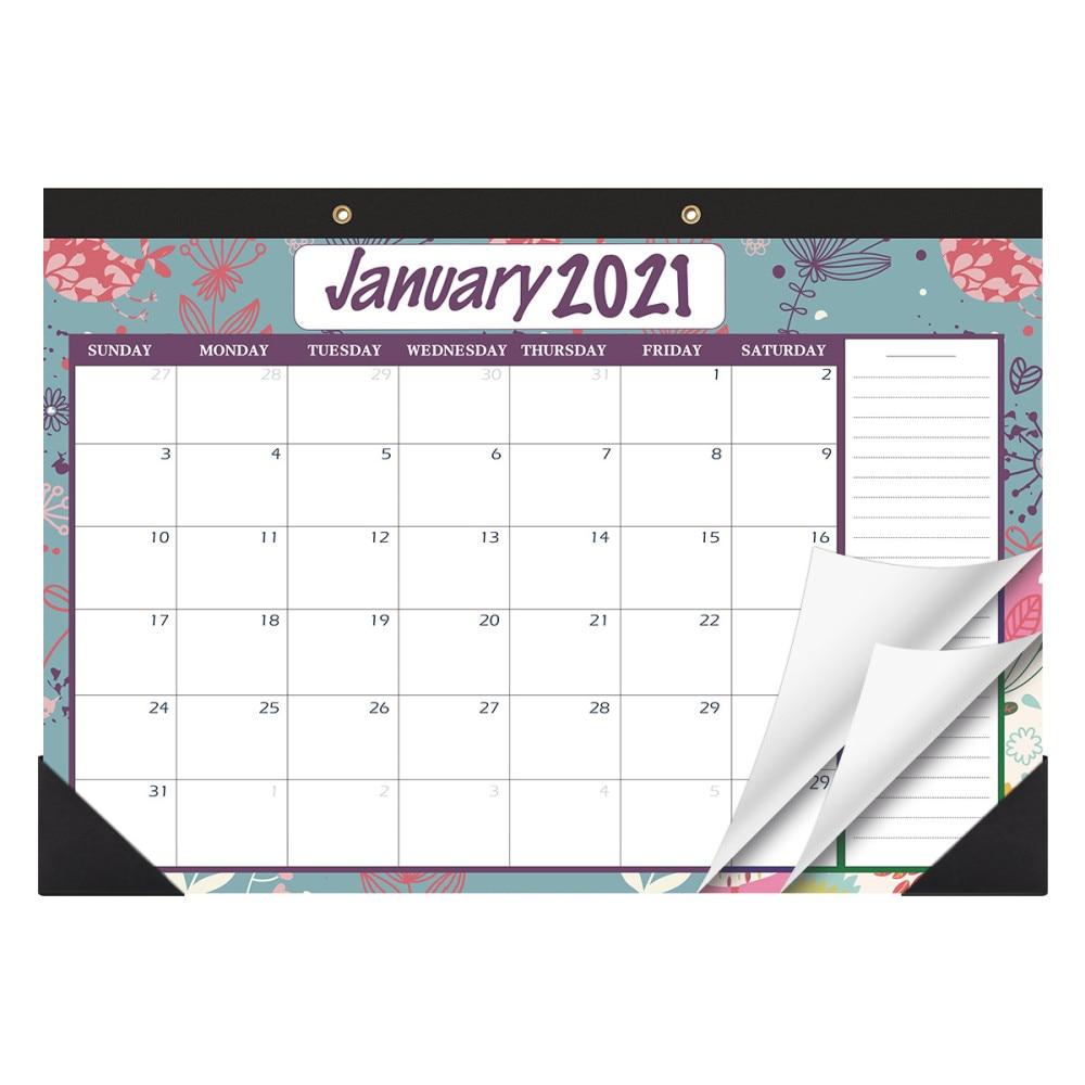 STOBOK January 2020 to 2021 Desk Calendars Schedule Planner Desktop Kraft Annual Calendar Hanging Wall 2-Year Book for Office Ho