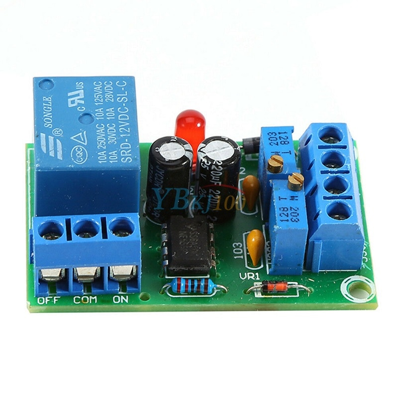 Módulo de cargador Rantion 12V módulo de controlador de carga automática de batería relé especializado tablero Protector de cargador automático