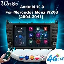 магнитола 2 din андроид 2 din Android 10 автомобильное радио carplay для Mercedes Benz C Class W203 / CLC W203 2004 2007 мультимедийный автомобильный стерео Авторадио GPS экран