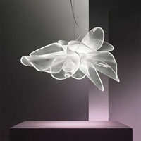 New Nordic Led Chandelier, Iron Art White Mesh Design, Modern Creative Living Room, Restaurant, Cafe, Indoor Art Hanging Lamps