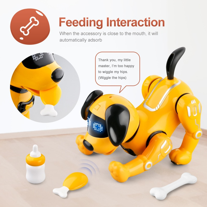 Умная собака-робот с дистанционным управлением для раннего развития, детская игрушка, Интерактивная демонстрационная модель собаки для ро...