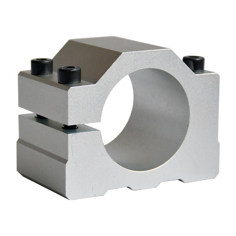 1 piezas de alta calidad del husillo abrazadera 52 57 65 mm de aluminio soporte del motor del cnc máquina de talla de abrazadera motor titular