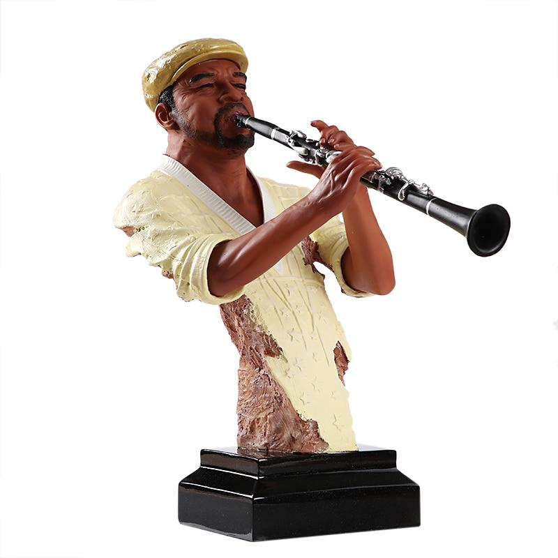 تمثال نصفي لاعبة الكلارينيت للحانة ، تمثال نصفي مصنوع يدويًا من الراتنج ، أدوات موسيقية ، ديكور ، هدية تذكارية ، زخرفة يدوية
