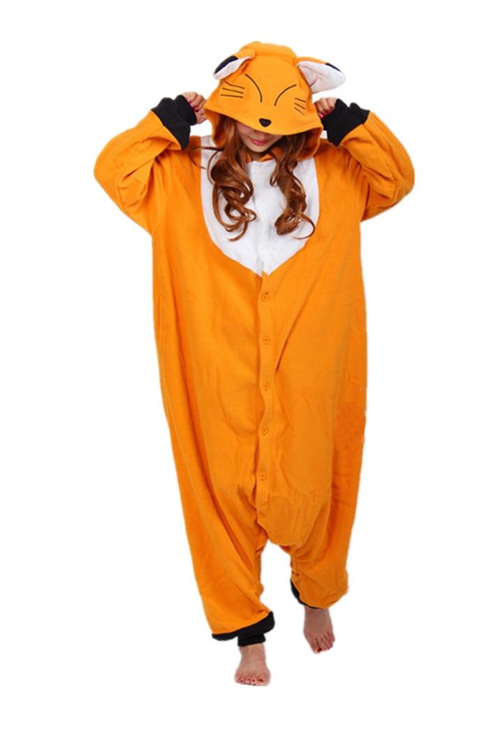 Новинка, женские пижамы с изображением лисы, костюмы для косплея, мужские пижамы, пижама с рисунком из мультфильма, одежда для сна