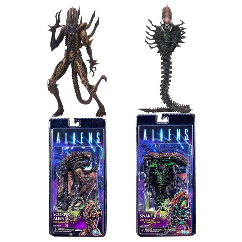 Scorpion Figure NECA 13th Lineup Aliens VS Predator Scorpion Snake Alien Sgt Apone Snake Action Figure Collectable Model Toy