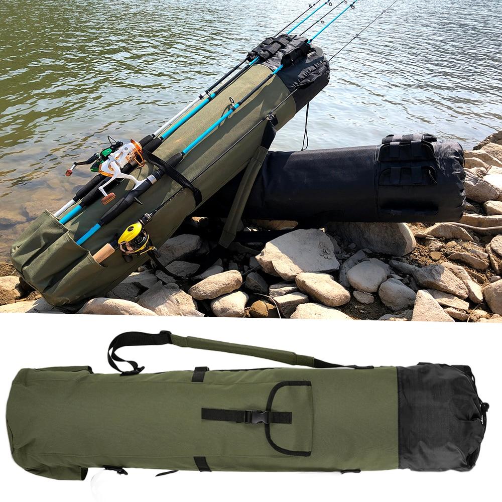 GHOTDA Foldable Multi-purpose Fishing Rod Case For Lure Fishing Rod Fishing Tackle Bags