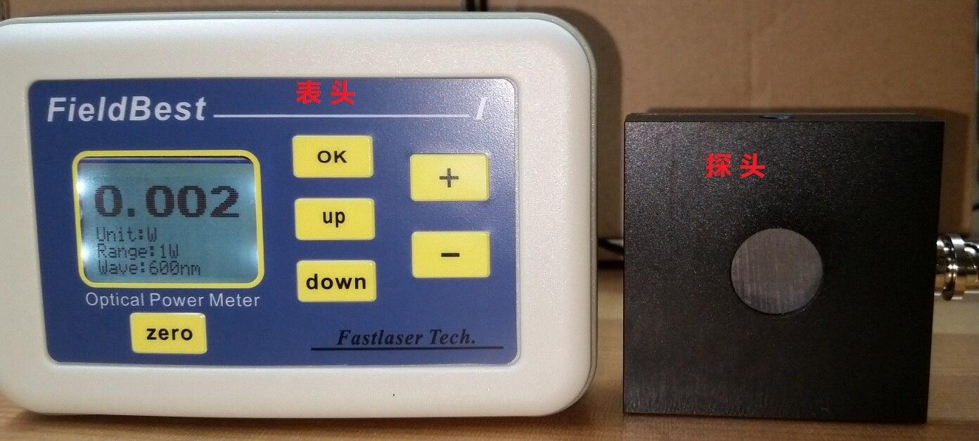 Medidor de potencia láser termoeléctrico tipo 6W rango 1mW resolución Respuesta Rápida