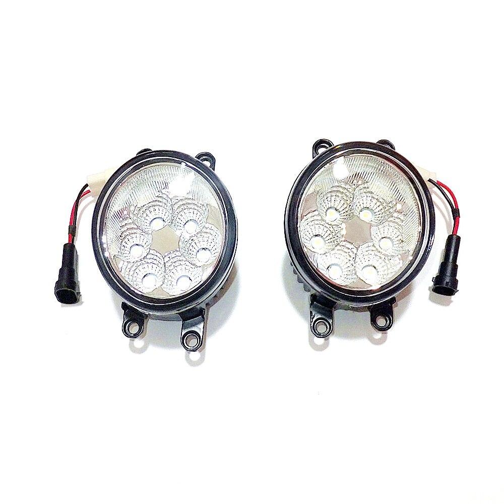 Julio King 18W 6500K 6LEDs LED luces de circulación diurna LED funda de lámpara antiniebla para Scion iQ 2012-2013, más de 1260LM/pc