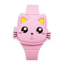 Flip Toys Student Touch Screen Led Electronic Watch Built In Button Battery Led Electronic Watch Gif