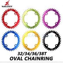 WUZEI vélo 104BCD manivelle ovales pignons 30 T/32 T/34 T/36 T/38 T vtt vélo étroit large roue à chaîne montagne unique dent plaque pièces