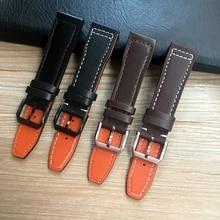 20mm 21mm 22mm Brown Black Men Watchband for IWC Pilot Mark XVIII IW327004 IW377714 Watch Strap Calf