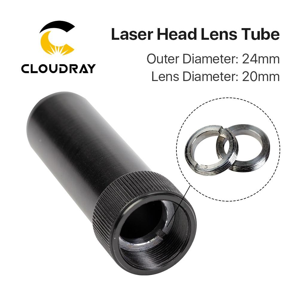 Tubo de lente Cloudray C Series CO2 diámetro exterior 24mm para lente dia20mm para cortadora láser CO2