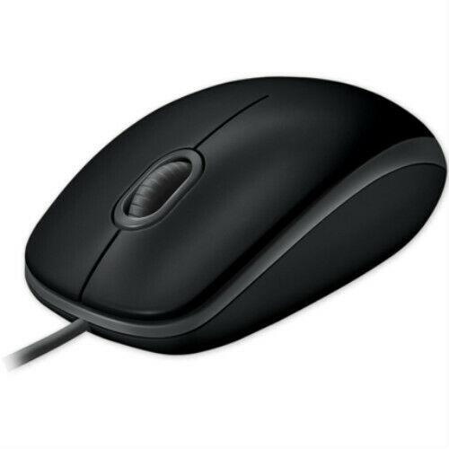 Ratón óptico con cable Logitech B100 para oficina y hogar