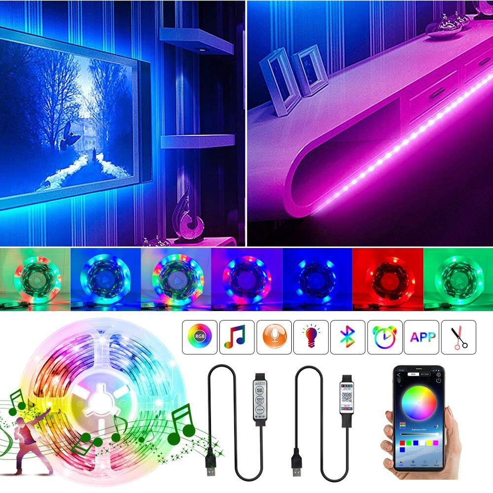 tira-de-luces-led-rgb-con-bluetooth-lampara-flexible-con-control-de-3-teclas-cinta-de-decoracion-de-2835-5v-luz-de-fondo-de-tv-cadena-luminosa-regulable