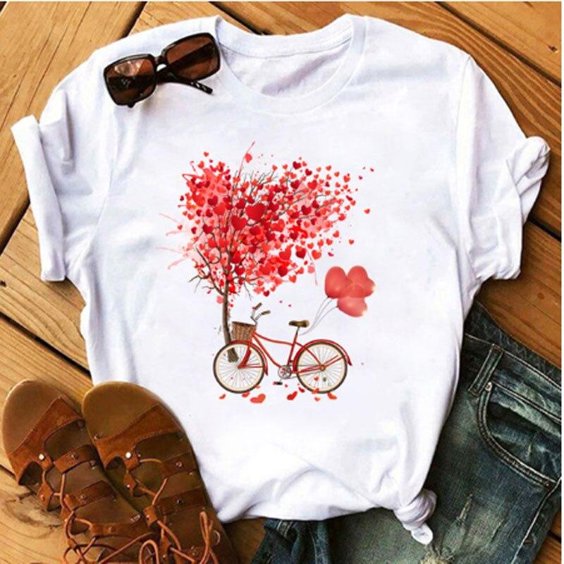 Damen Sommer Vogue T-shirt Damen Sommer Casual Tee Harajuku Koreanische Grafik Top Neue Kawaii Kurzarm Weibliche T-shirt