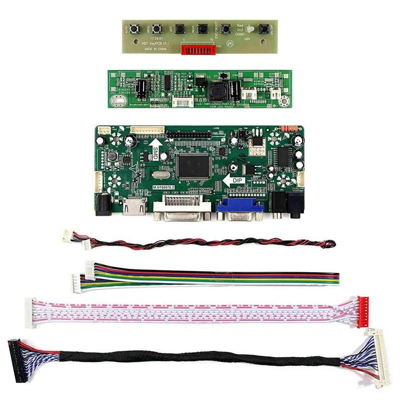 Hdmi Vga Dvi Аудио ЖК-плата драйвера для 17 дюймов M170Etn01.1 1280X1024 6Pin Led подсветка 30Pin ЖК-экран