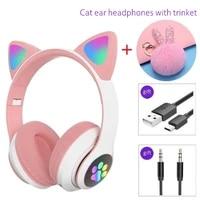 wireless headphones helmet cat ear earphone stereo girls bluetooth helmets noise cancel earbud with microphone trinkets gifts
