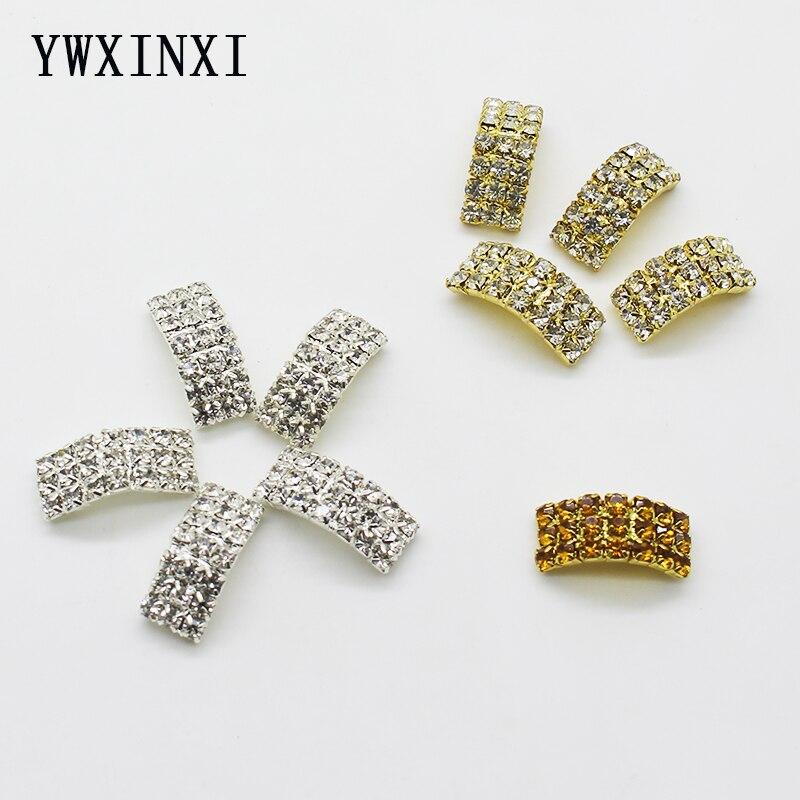 Hot venda por atacado 10 pçs/set 9*21mm arqueado acessórios da jóia diy acessórios de strass decoração artesanal fivela de costura