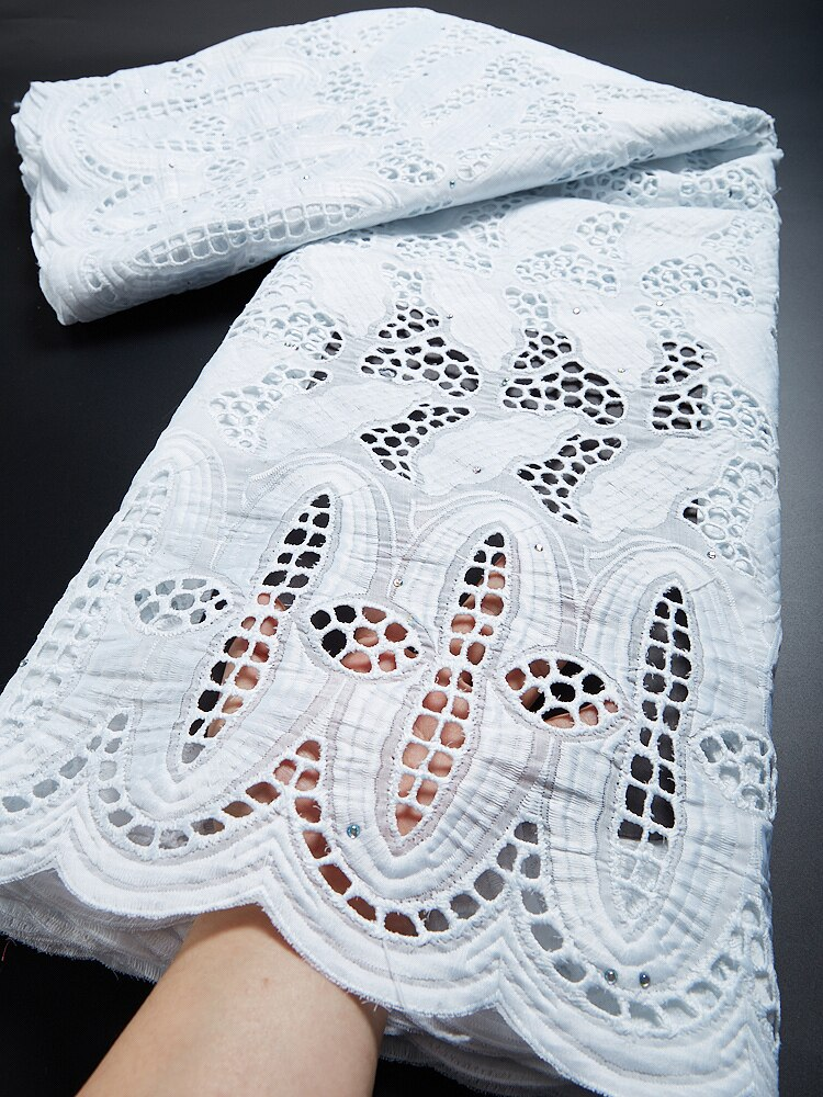 African 100% Cotton Lace Fabric 2021 High Quality Lace Material In Switzerland Embroidery Swiss Voile Lace Fabric TY013 african 100% cotton lace fabric 2021 high quality lace material in switzerland embroidery swiss voile lace fabric ty013