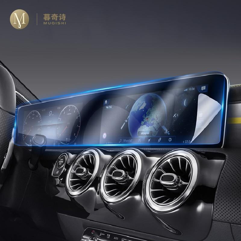 For Mercedes Benz B-Class Navigation Screen Tempered Glass W247 B180 B200 GPS LCD Display Protecor GLB Dashboard TPU Film Cover